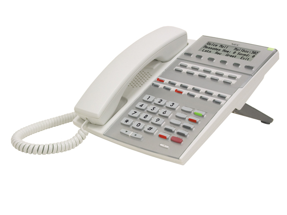 NEC DSX-40 DSX-80 22 Key LCD Phone 1090025 White