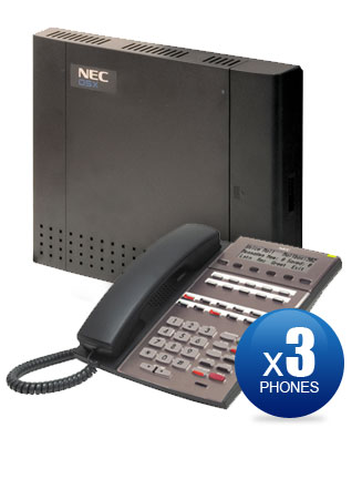 NEC DSX-40 Kit with (3) 22-Key Phones