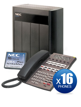 NEC DSX-80 Kit with (16) 22-Key Phones & Intramail PRO Voicemail