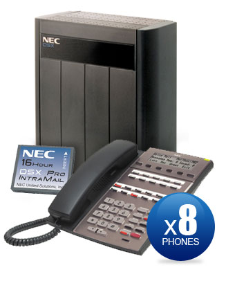 NEC DSX-80 Kit with (8) 22-Key Phones & Intramail PRO Voicemail