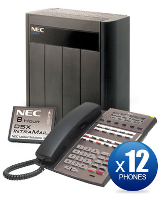 NEC DSX-80 Kit with (12) 22-Key Phones & Intramail Voicemail