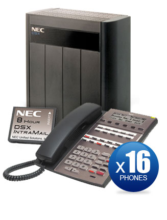 NEC DSX-80 Kit with (16) 22-Key Phones & Intramail Voicemail