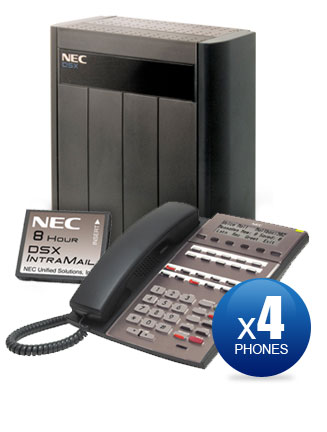 NEC DSX-80 Kit with (4) 22-Key Phones & Intramail Voicemail